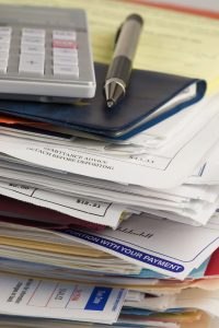 Pile of unpaid bills that can be eliminated with help from a Philadelphia bankruptcy attorney