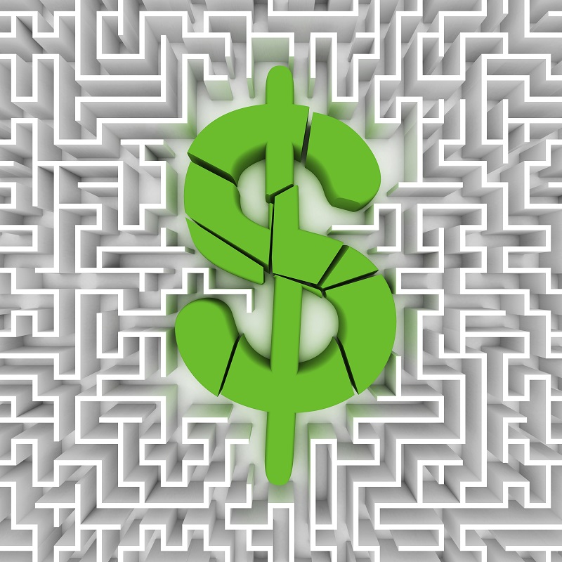 A Bankruptcy Lawyer explains shy Chapter 13 Bankruptcy Might Fail - image of a maze with a broken dollar sign superimposed over the top